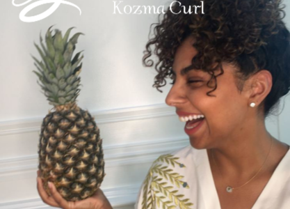 How to Pineapple Style Curly Hair